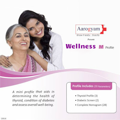 Thyrocare Wellness Mini (M) Profile - 33 Parameters / Rs 600
