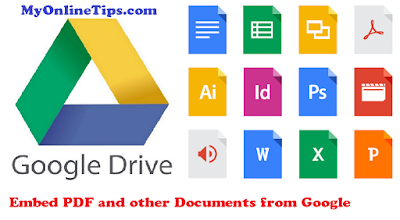 How To Embed PDF and other Documents from Google Drive In Blogger