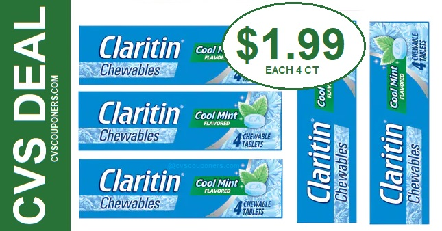 Claritin Chewables CVS Deal $1.99 3-8-3-14