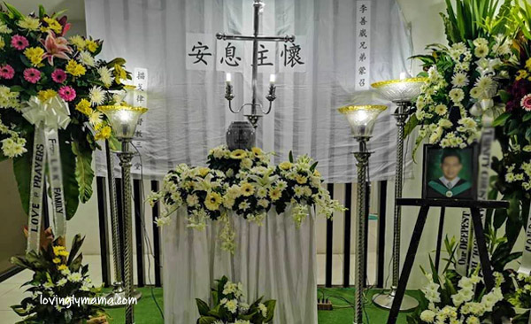 Celebrating Life in Style, Chinese elders, Chinese family, Chinese funeral traditions, Chinese customs, Filipino-Chinese funeral, Filipino-Chinese burial, Chinese traditions, Filipino-Chinese, Filipino-Chinese family, family, Bacolod City, Christ the Redeemer Columbarium Complex, Bacolod cremation, Bacolod funeral services, Bacolod memorial park, Teresa Development Corporation, urns, columbarium, Bacolod columbarium, Bacolod blogger, Bacolod mommy blogger - Chinese grandma - grandson - marble urn with engraving