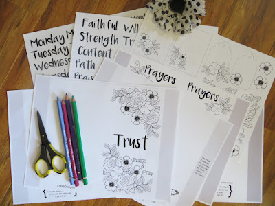 Praise and Pray Colorable Devotional by Lot95designs on Etsy