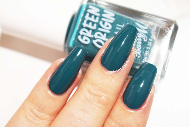 Barry M Green Origin collection swatches Rock Pool