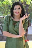 Akshitha cute beauty in Green Salwar at Satya Gang Movie Audio Success meet ~  Exclusive Galleries 006.jpg
