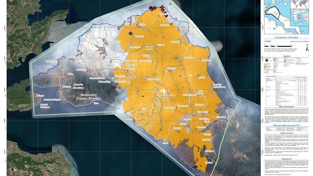 Πόσα στρέμματα δασικής γης έχουν καεί σε Εύβοια, Ηλεία, Λακωνία, Αττική και Γορτυνία