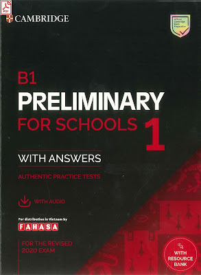 B1 Preliminary For Schools 1 cd audio