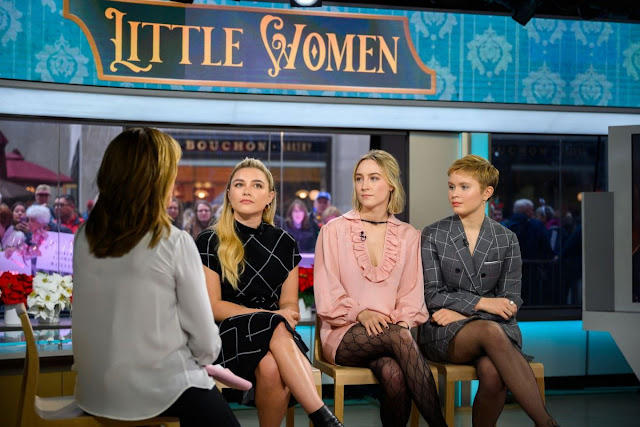 Florence Pugh, Eliza Scanlen, And Saoirse Ronan Clicks at Today Show in New York 10 Dec-2019