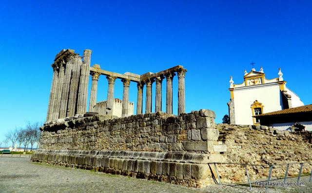Templo Romano em Évora, Portugal