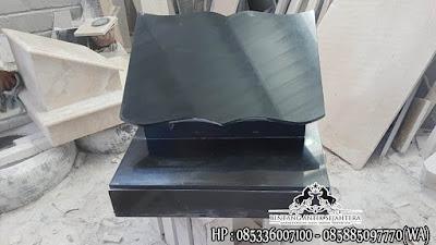 Batu Nisan Granit Hitam, Model Tulisan Nisan Muslim, Nisan Makam Granit