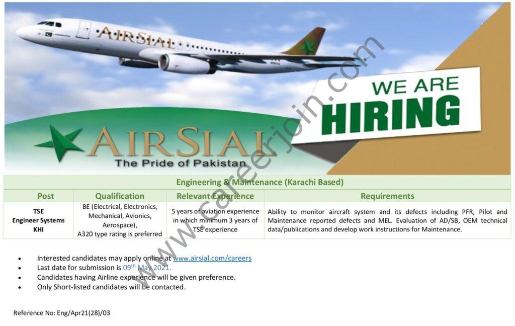 www.airsial.com/careers - AirSial Airline Jobs 2021 in Pakistan
