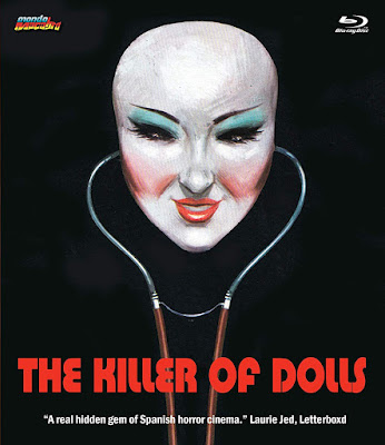 Blu-ray artwork for Mondo Macabro's THE KILLER OF DOLLS!