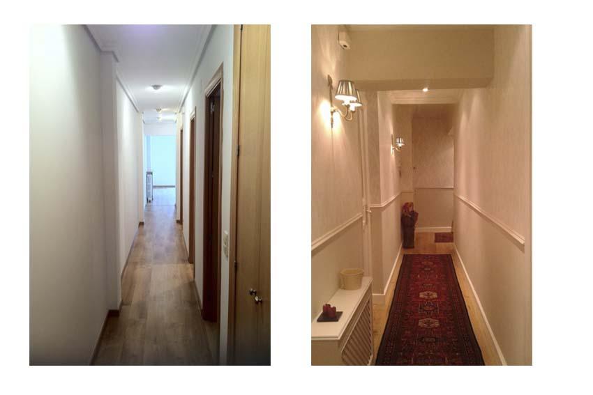 Marta decoycina como decorar pasillos largos - Decorar pasillo con fotos ...