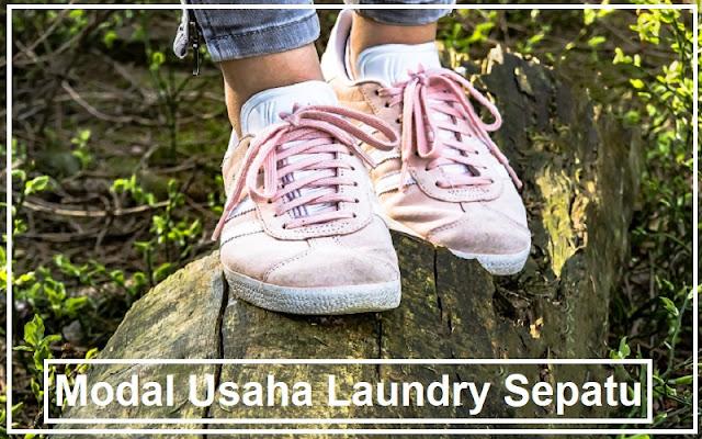 modal untuk usaha laundry sepatu