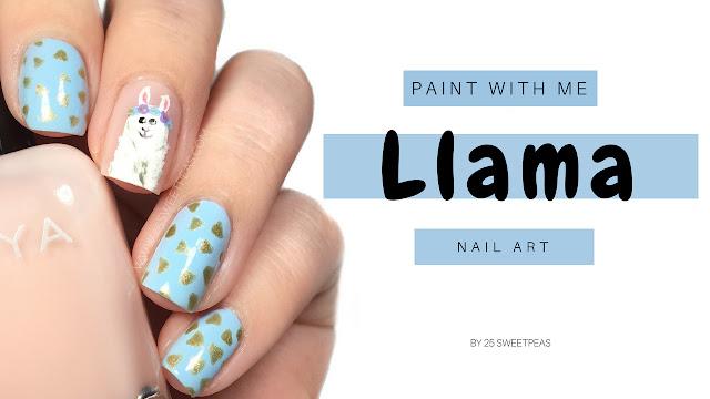 llama Nail art