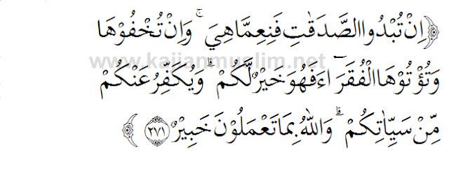 Tafsir surat al baqarah ayat 271 tentang sedekah