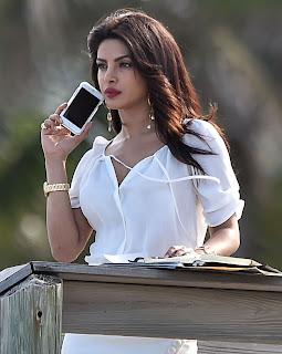 Actress Priyanka Chopra Stills On Set of Baywatch in Miami 1
