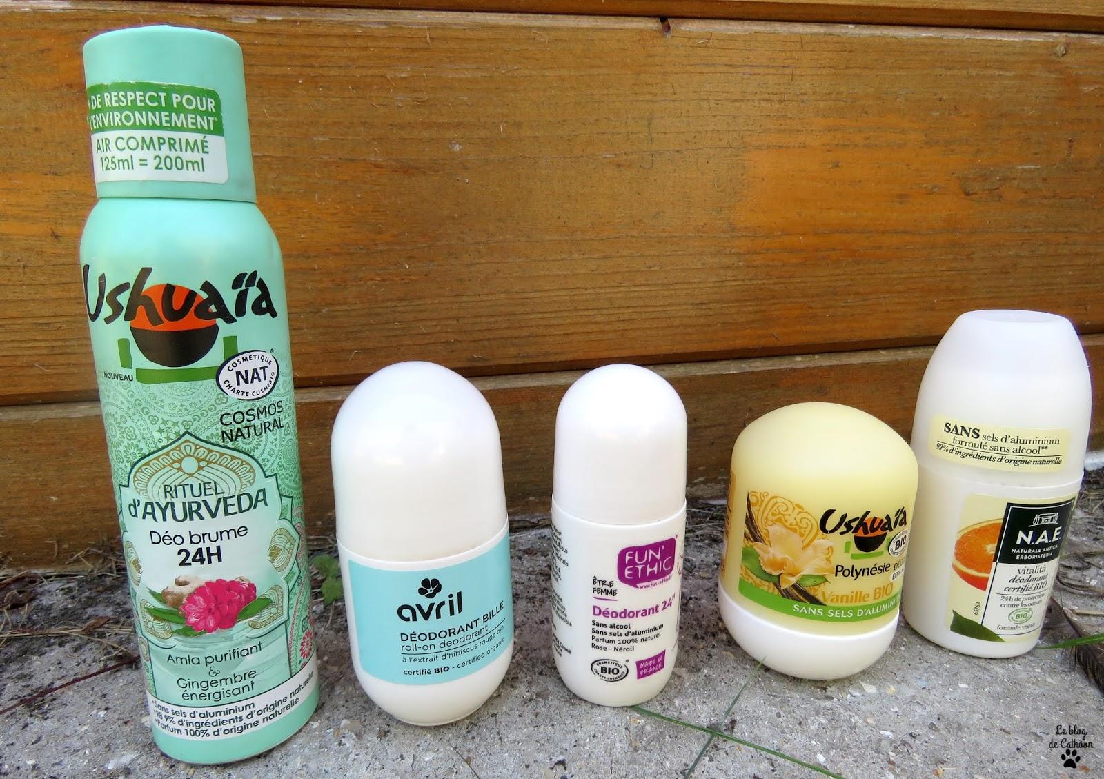 Meilleurs déodorants naturels et bio