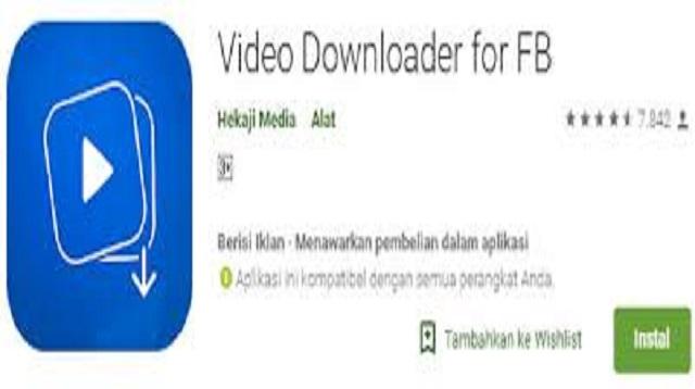 Cara Download Video di FB Lite