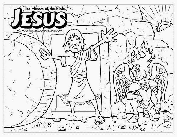 Imagenes Cristianas Para Colorear Dibujo De La Resurrección De