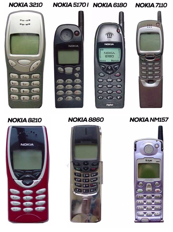 Nokia Mobile Phones in 1999