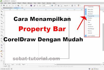 Cara Menampilkan Property Bar CorelDraw Dengan Mudah