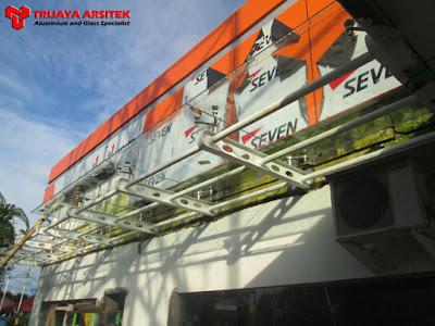 Aluminium Composite Panel, Kisi - Kisi Aluminium, Konstruksi Baja, Pintu & Jendela Aluminim, Pintu Frameles, Sipil, Spyder System, Kanopy Kaca, Proyek Situbondo, Trijaya Aluminium,