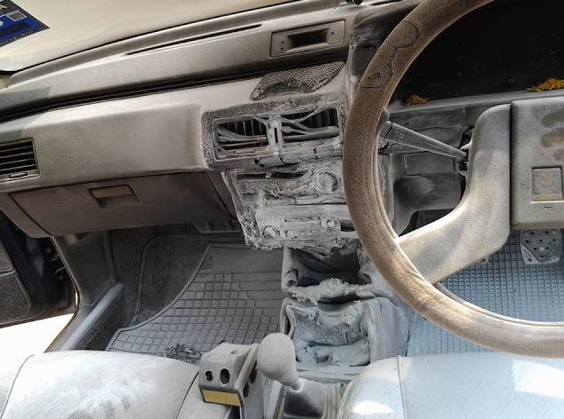 Lelaki Terkejut Power Bank Meletup Dalam Kereta