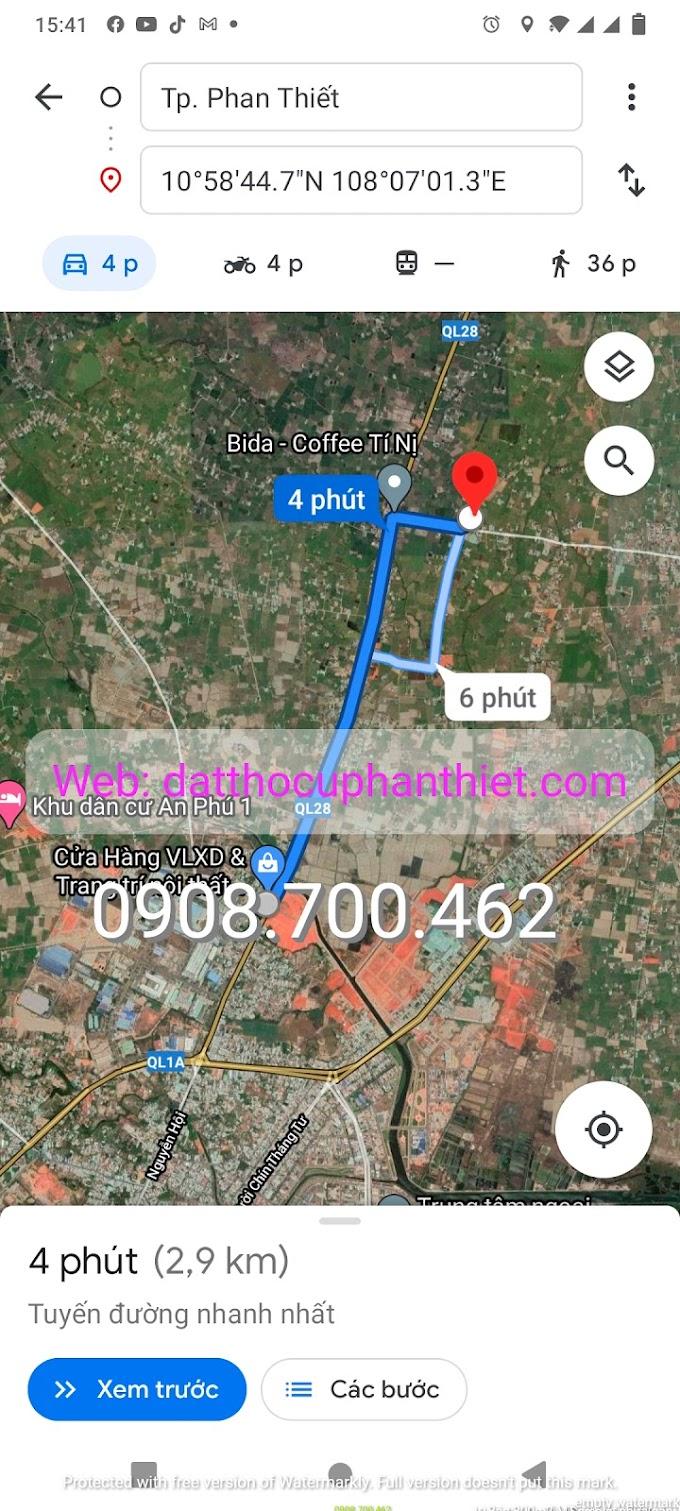 246m2 đất thổ cư, gần QL28, cách trung tâm Phan Thiết 3,5km, giá rẻ bèo