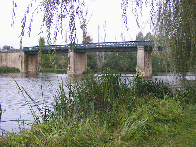 Bridge over the Anglin at Ingrandes. Indre. France. Photo by Loire Valley Time Travel.