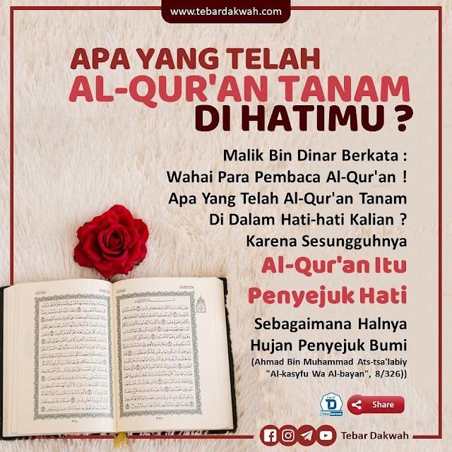 Apa Yang Telah Al-Qur'an Tanam Di Dalam Hatimu?