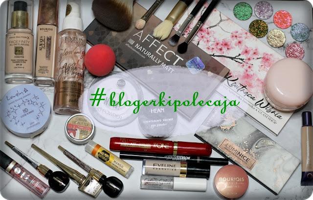 #blogerkipolecają  - zawartość mojej kosmetyczki makijażowej.