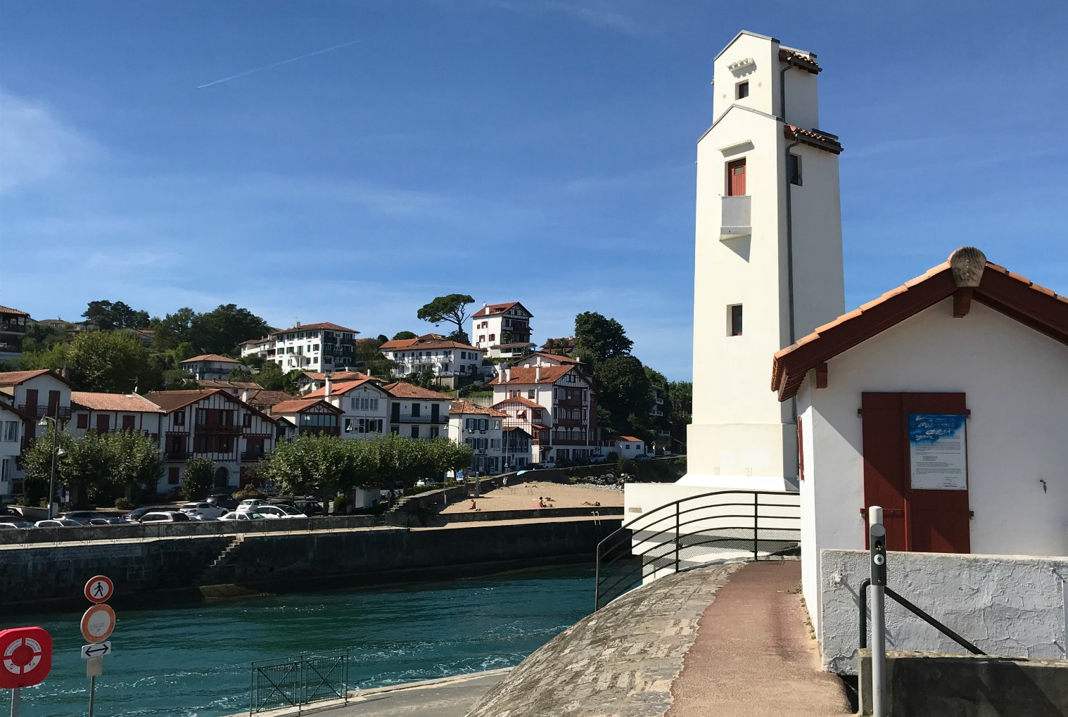 Entrance to St-Jean-de-Luz harbour
