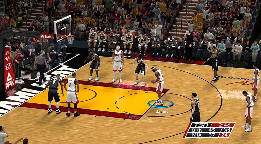 NBA 2K14 TSN TV Scoreboard Mod