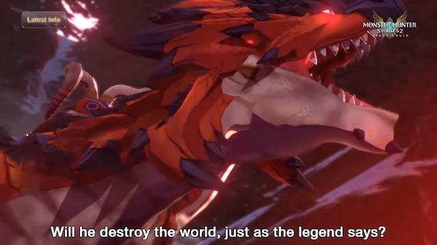 Monster Hunter Stories 2 Razewing Ratha destroy the world legends awakening