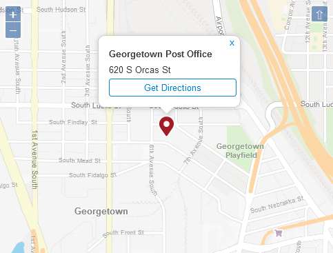 Georgetown Post Office Contact Numbers