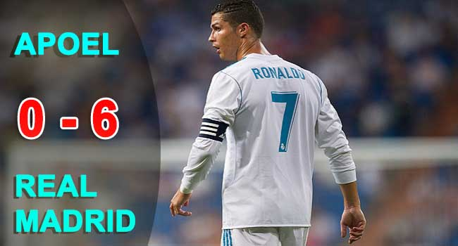 cuplikan gol apoel vs real madrid 0-6