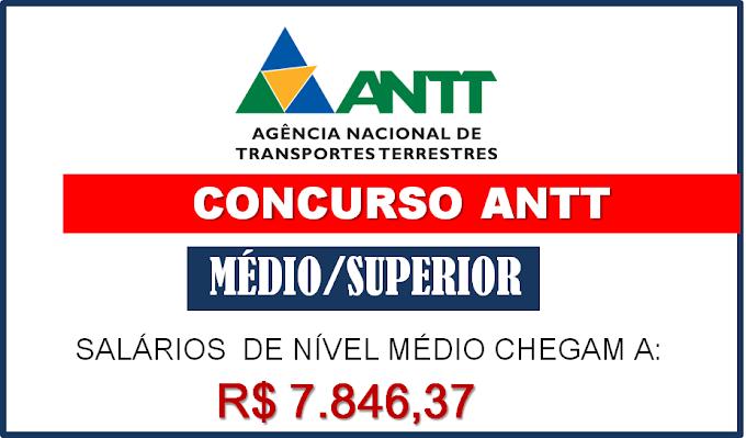 ANTT Solicita novo edital com 295 vagas para nível médio e superior. Salários até R$15.516,12