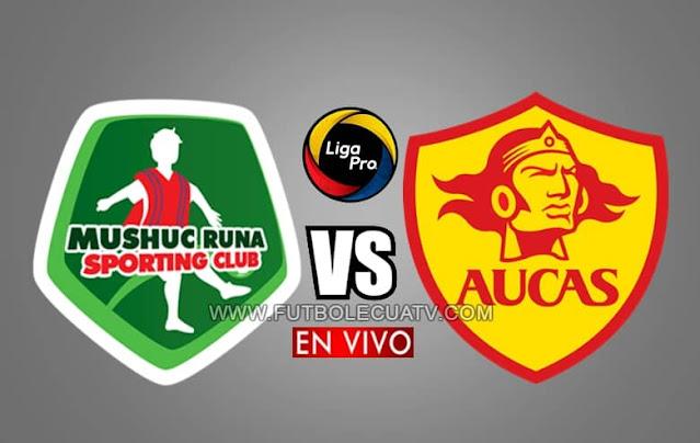 Mushuc Runa recibe al Aucas en vivo a partir de las 15h30 horario de nuestro país, por la jornada tres del campeonato ecuatoriano, siendo emitido por GolTV Ecuador a jugarse en el estadio Coop. Ahorro y Crédito. Con arbitraje principal de Juan Andrade.