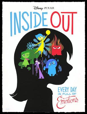 Cartel en inglés de la película de animación de Pixar Inside Out