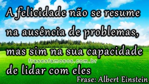 Albert Einstein, frases sobre felicidade