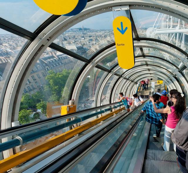 widok na Paryż z Centrum Pompidou