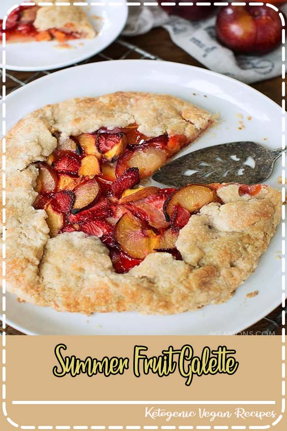 The one who bought entirely too many cherries Summer Fruit Galette