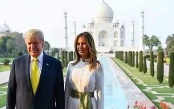 தாஜ்மஹாலில் டிரம்ப் தம்பதியினர்!!