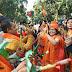 गुजरात मे भाजपा धीमे-धीमे जीत की ओर बढ़ रहा है,अहमदाबाद पहुंचे अमित शाह, कार्यकर्ता मना रहे जश्न