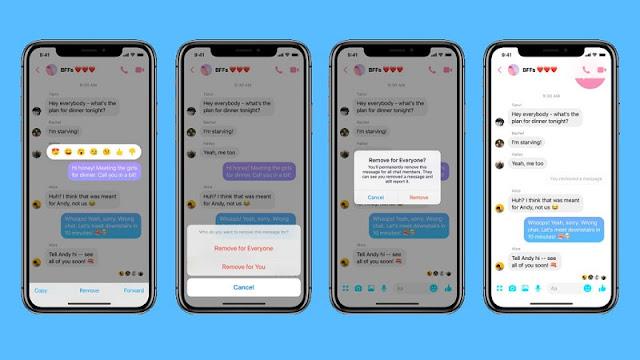Fitur Terbaru Dari Facebook Messenger Bisa Hapus Pesan ala WhatsApp