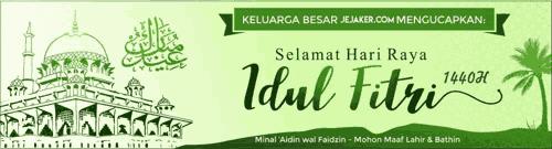 Download Desain Spanduk Ucapan Selamat Hari Raya Idul Fitri 1440 H