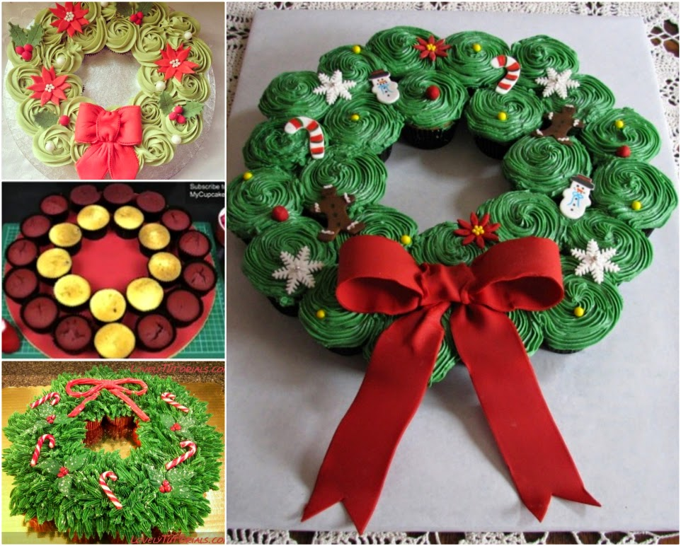 Ideas Amp Products Christmas Cupcake Wreath