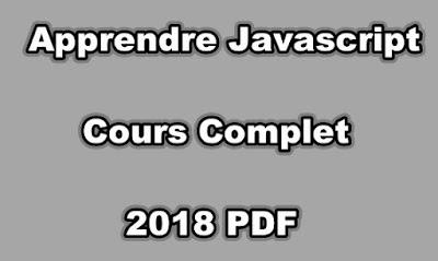 Apprendre Javascript Cours Complet 2018 PDF