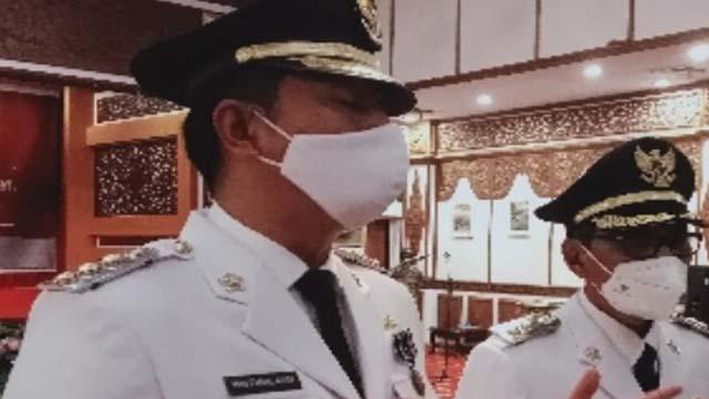 Pj Gubernur Jambi Lantik Bupati Terpilih Secara Hybrid, ini Pesannya Kepada KDH