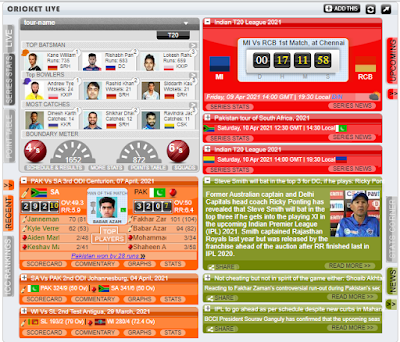 Latest News and Stats in widget With the only HTML Code