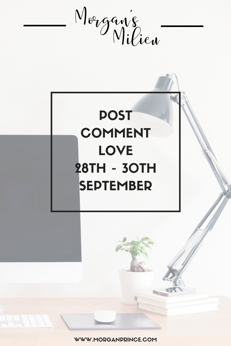 Post Comment Love 28th - 30th September - Join Stephanie and I for our linky where we celebrate your posts!